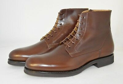 MAN-8eu-9us-LACES BOOT-BROWN RUSTIC CALF-VITELLO MARRONE-RUBBER SOLE-SUOLA GOMMA
