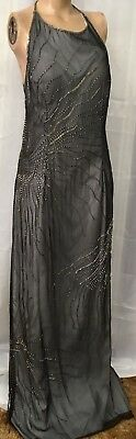 Vintage Shimmering Silver Evening Gown