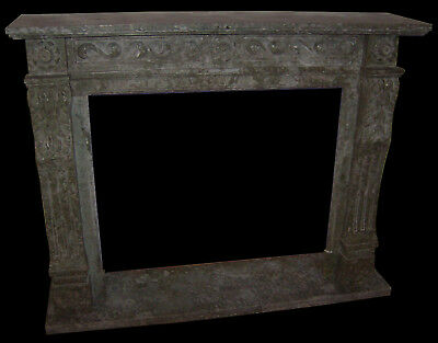 Grande Camino In Marmo Verde No Pietra Caminetto Marble Fireplace