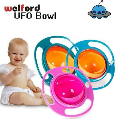360 Rotate Spill-Proof Bowl Kid Baby UFO Feeding Bowls Practical Dinnerware Tabl