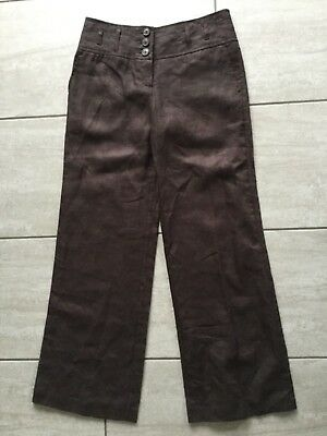 Bnwt NEXT Ladies Black or Navy Linen blend Parallel Leg Trousers Holiday 10-14