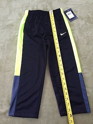 ae98ac869519 NWT NIKE Sports Small Boys Sz 4 Athletic Track Sweat Pants Black Lime Green  Gray
