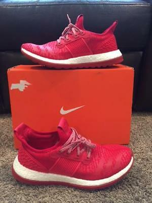 9950f217bf16 Men s Adidas Pure Boost BA8453 ZG Shoes 10.5 GENTLY USED Pureboost Red White