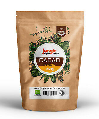 Jungle Superfoods Organic Raw CACAO Beans- PERUVIAN HIGH GRADE CRIOLLO VARIETY