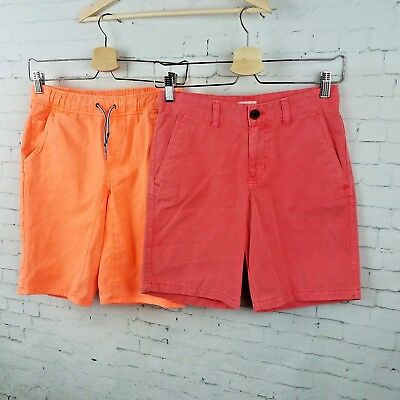 4ae029330e5d Cat   Jack Boys Shorts Size 12 12 14 Large Red Neon Orange Chino Summer