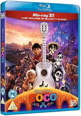 COCO [Blu-ray 3D + 2D] UK Exclusive 3D Release 3-Disc Pack Disney Pixar Movie