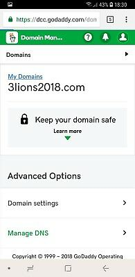 www.3lions2018.com : premium domain name for sale