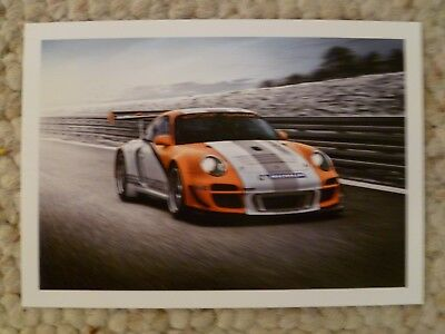 2011 Porsche 911 GT3R Hybrid Factory issued Post Card Right Front RARE!! Awesome