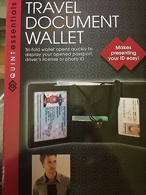 travel wallet passport holder document organizer