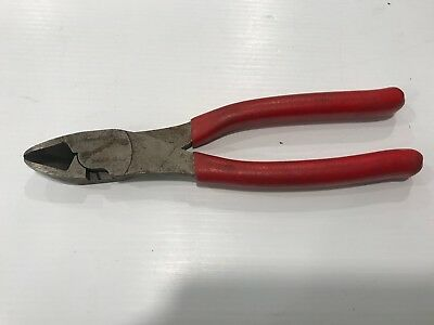 Snap On USA 388CF Red High Leverage Diagonal Side Cutter with Vinyl Handles