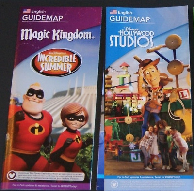 2018 Disney Hollywood Studios & Magic Kingdom Guide Map > Toy Story Incredibles