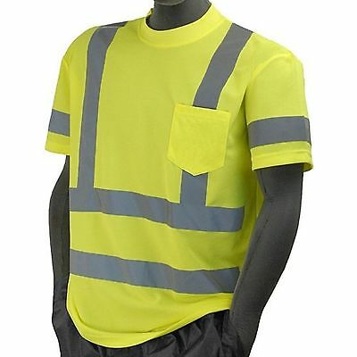 ANSI Class 3 T-Shirt High Visibility by Majestic 75-5305/L
