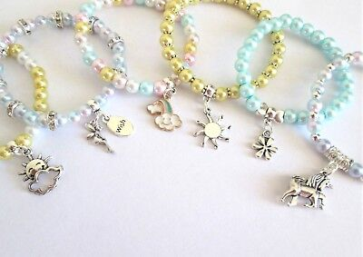 Girls Bracelets Party Bag Fillers Birthday Friend Charity Donation Make A Wish x