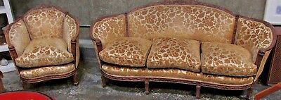 French Style Sofa and Chair. 1930-50's.