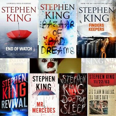 Stephen King End of Watch Bazaar of Bad Dreams IT 50+ Kindle Books CD epub mobi