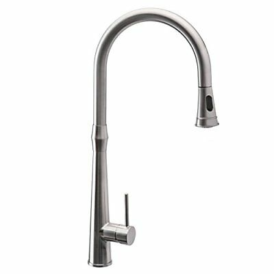 Kitchen Sink Faucets with Pull Down Sprayer Single Handle Brushed Nickel with...