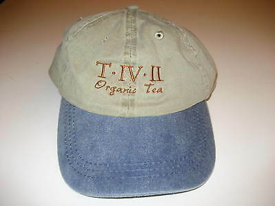 Baseball cap - Khaki w/Blue Jean Bill T-IV-II Organic Tea logo Pacific Foods New