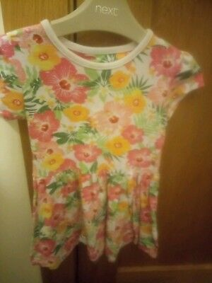 girls dress, tunic, top. summer floral design. worn once. age 3-4