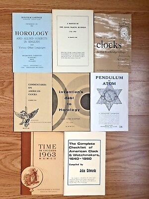 8 Antique Clock Clockmaker Horology Watch Timepiece Collecting History Booklets