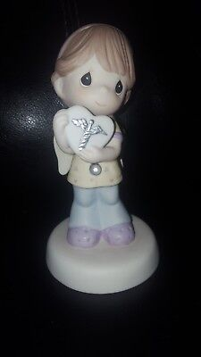 precious moments heart of gold nurse with chart 143030 new in box