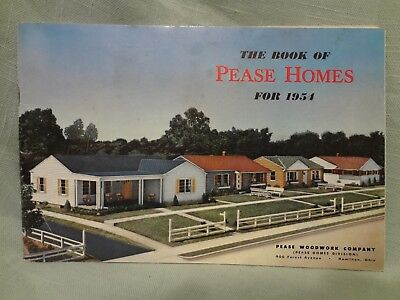 1954 PEASE HOMES CATALOG w/Unused Purchase Order SALES BROCHURE MANUAL PAMPHLET