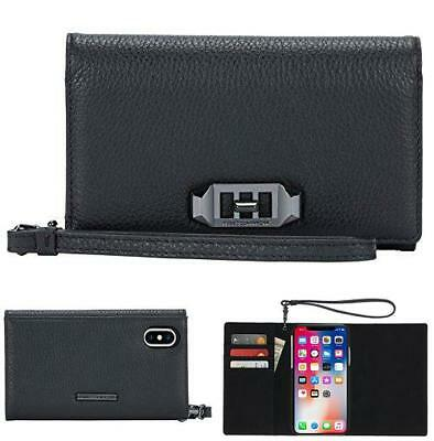 new products d9afb 1fceb REBECCA MINKOFF LOVE Lock Wristlet For Iphone X - Black/Silver ...