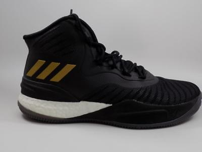 dd2f29f94cfd ADIDAS BOOST D Rose 8 Black Gold Basketball Shoes lot CQ1618 Size 9 ...