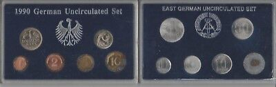1990 German Uncirculated 6 Coin Set & East Germany Unc 6 Coin Set 1982-1990 #4