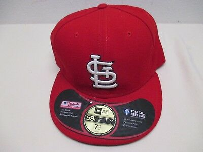 f57fe63d 59FIFTY NEW ERA ST LOUIS CARDINALS Red Fitted Baseball Hat MLB 7 1/2 ON  FIELD