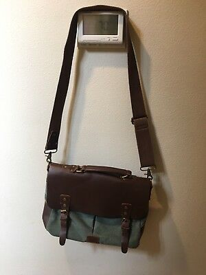 b556d4b16 Wowbox Messenger Satchel bag for men and women,Vintage canvas real leather  14-in