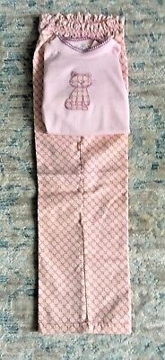 Vintage Healthtex Girl Pink & Purple Cat Long Sleeve Shirt & Pants Outfit 6X NWT