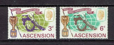 Ascension Island - 1966 World Cup Soccer Issue - Scott 100 To 101 - Mlh