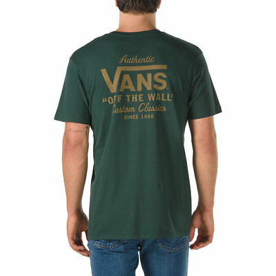 706e021f2c VANS OFF THE Wall (Holder Street Ii) Tee T Shirt Scarab Green Sz Men ...