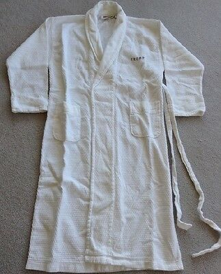 Trump Spa Hotels LUXURIOUS White Bath Robe Unisex Cotton Men Women Sophistique