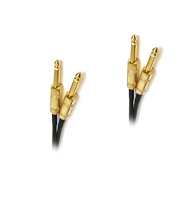 """Hosa Cpp-405G Dual Gold 5Ft 6.35Mm 1/4"""" Ts Mono Patch Jack Audio Speaker Cable"""