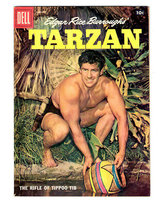 Edgar Rice Burroughs TARZAN #100 in VF/NM a DELL 1958 Silver Age  jungle comic