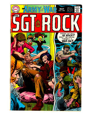 OUR ARMY AT WAR #206 in FN 1969 DC WAR comic w/ SGT ROCK