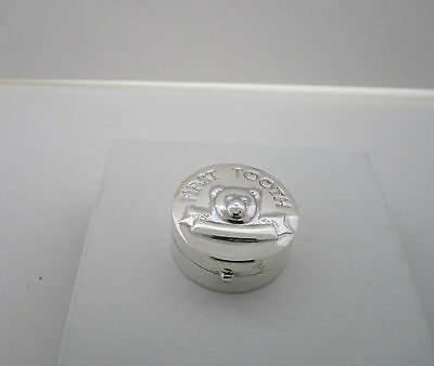 UK Hallmarked 925 Silver First Tooth (Teddy Bear) Embossed  Ref: SPB 003