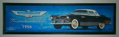 Ford 1956 Thunderdird brand new drink mat runner for home bar, pub or collector
