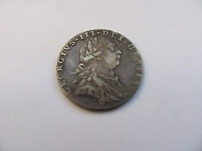 Sixpence George 3rd III Third 1787 Silver