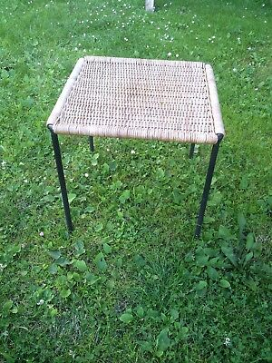 Carl Auböck ,Rattan Side Table ,Stool