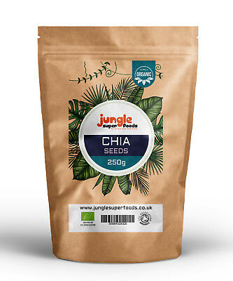 Organic Chia Seeds Natural Weight Loss & Detox With Raw Whole Chia - ALL SIZES