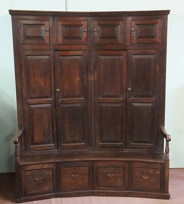 Antique Oak Bacon Settle