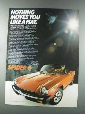 1981 Fiat Spider 2000 Ad - Nothing Moves You Like