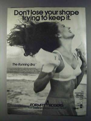 1980 Formfit Rogers Running Bra Ad - Don't Lose Shape