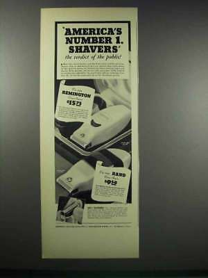 1938 Remington and Rand Close-Shavers Ad - Number 1