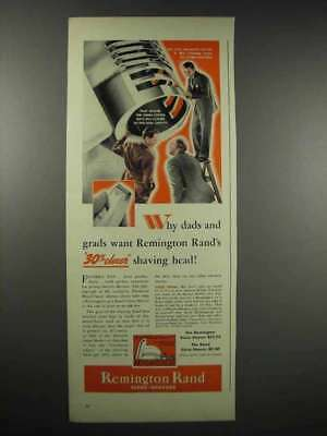 1939 Remington and Rand Close-Shavers Ad - Dads Grads