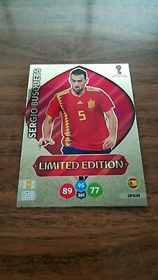 Limited Edition Spain Busquets + Morata FREE ! Adrenalyn World Cup Russia 2018
