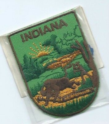 Indiana State advertising patch 2-5/8 X 2 #1833