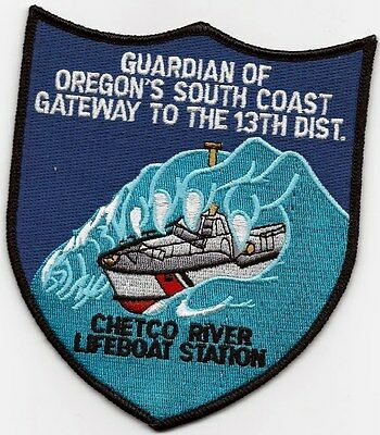 """USCG Chetco river lifeboat station USCG patch """"guardian OR south coast 13th dist"""